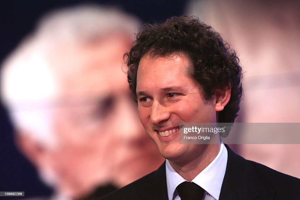 Fiat Chairman <a gi-track='captionPersonalityLinkClicked' href=/galleries/search?phrase=John+Elkann&family=editorial&specificpeople=571803 ng-click='$event.stopPropagation()'>John Elkann</a> attends 'Porta A Porta' Italian TV Show while a portrait of his grandfather Giovanni Agnelli is displayed in the background on January 24, 2013 in Rome, Italy. Today President of Italian Republic Giorgio Napolitano remembered after 10 years the death of Gianni Agnelli - President and principal shareholder of Fiat Group at the Cathedral of Torino.