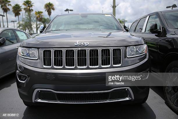 Fiat Chrysler Jeep Grand Cherokee is seen on a sales lot as the company announced it is recalling about 14 million Dodges Jeeps Rams and Chryslers...
