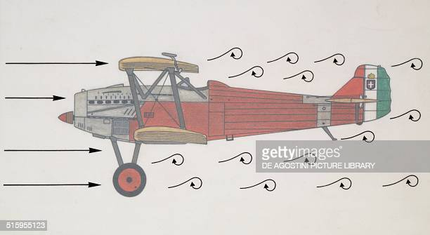 Fiat Cr20 biplane fighter aircraft Italy drawing