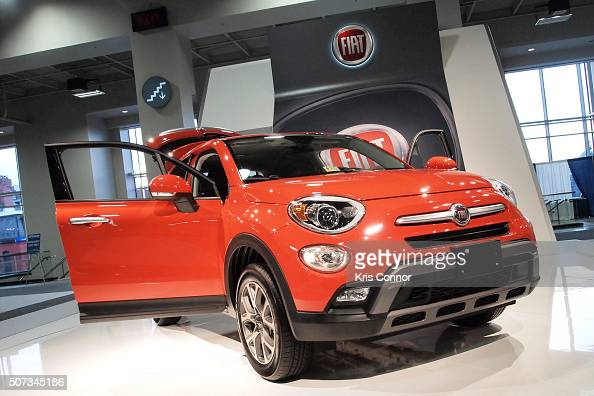 Fiat crossover is on display during the Washington Auto Show at the Washington Auto Show in Washington DC on January 28 2016