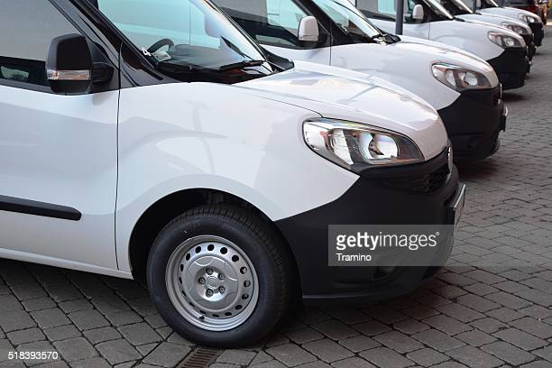 Fiat Doblo in a row