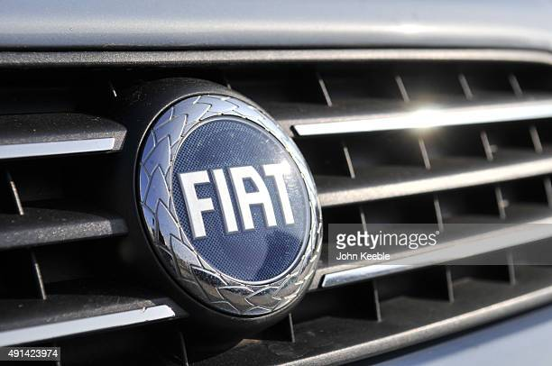 Fiat logo radiator badge is pictured on October 4 2015 in Southend on Sea England