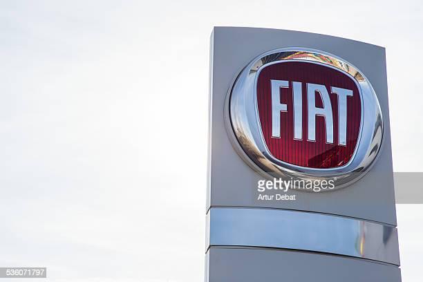 Fiat logo trademark with Sky on dealer company