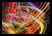 Fiber Optic Swirl Abstract