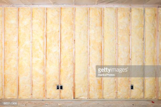 Fiberglass Batt Insulation between House Wall Studs