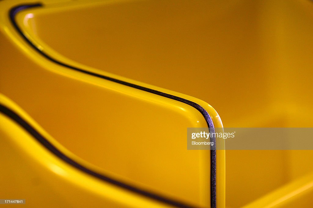 Fiberglass carriages sit at the Main Street Pedicabs Inc. manufacturing facility in Broomfield, Colorado, U.S., on Monday, June 24, 2013. The U.S. Census Bureau is scheduled to release durable goods figures on June 25. Photographer: Matthew Staver/Bloomberg via Getty Images