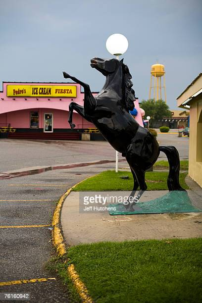 A fiberglass horse statue bucks at South of the Border on July 21 2006 in Dillon South Carolina Nearly unrivaled as a tourist trap Interstate Highway...