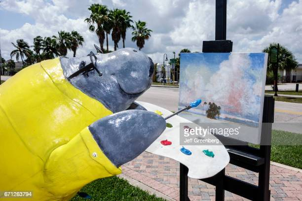 A fiberglass statue at the Manatee Observation and Education Center