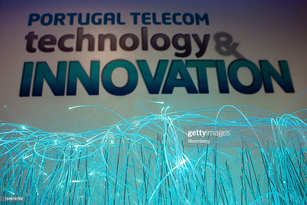 Fibre optic cables are seen on display in the Portugal Telecom SGPS showroom at the Technology and Innovation conference in Lisbon, Portugal, on Monday, Oct. 29, 2012. 'We believe prices in our domestic market are already low enough,' Portugal Telecom SGPS chief excecutive officer Zeinal Bava said. Photographer: Mario Proenca/Bloomberg via Getty Images