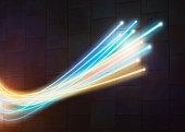 Fibre optics close up