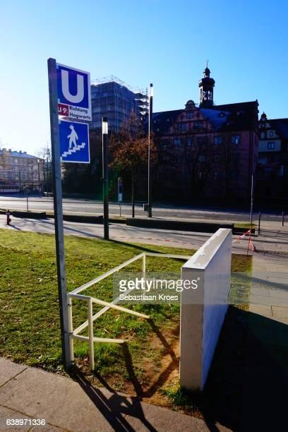 Fictional Metro Station Entrance, Darmstadt, Germany