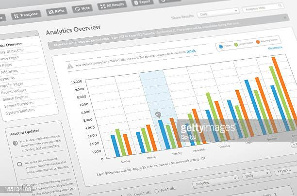 Fittizi sito Web Analytics