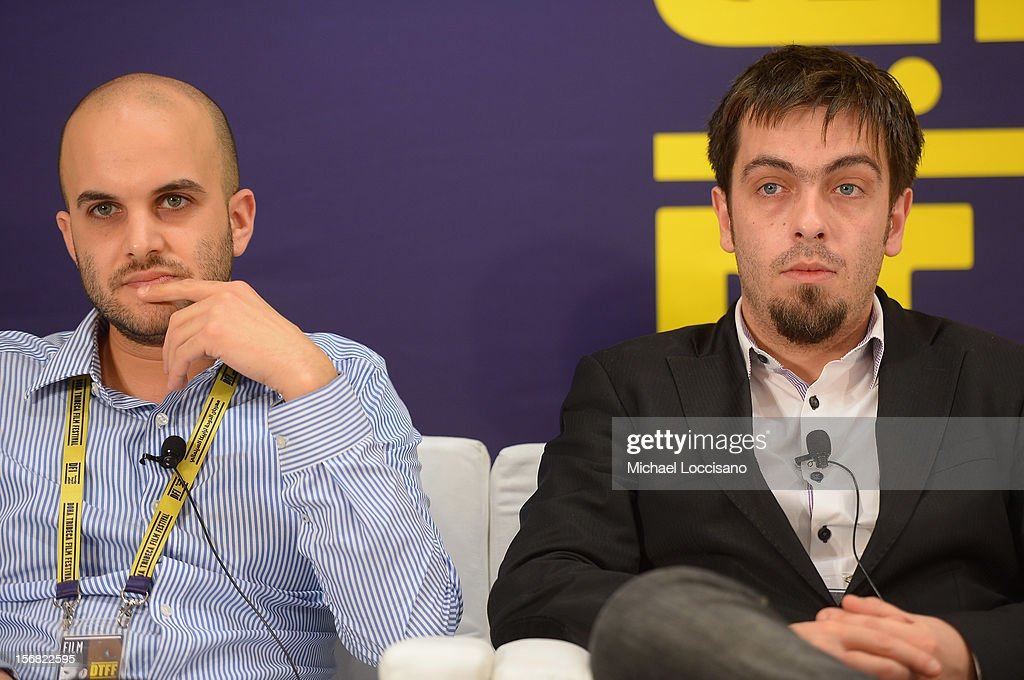 """""""Fidaï"""" Director Damien Ounouri (L) and executive producer Alexandre Singer attends the Arab Feature Film Press Conference at the Al Mirqab Hotel during the 2012 Doha Tribeca Film Festival on November 22, 2012 in Doha, Qatar."""