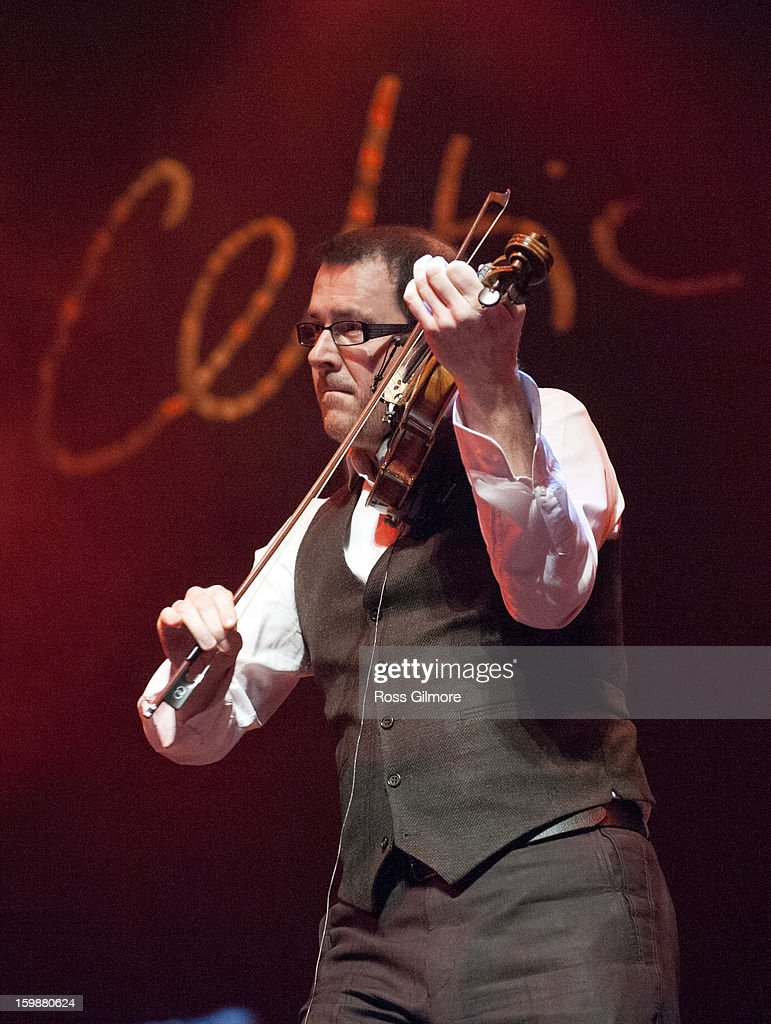Fiddle player Chris Stout performs at the Celtic Connections 20th Celebration Concert on Day 1 of the Celtic Connections Festival at Glasgow Royal Concert Hall on January 17, 2013 in Glasgow, Scotland.