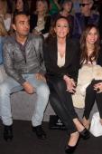 Fidel Albiac and Rocio Carrasco attend Mercedes Benz Fashion Week Madrid W/F 2014 at Ifema on February 17 2014 in Madrid Spain