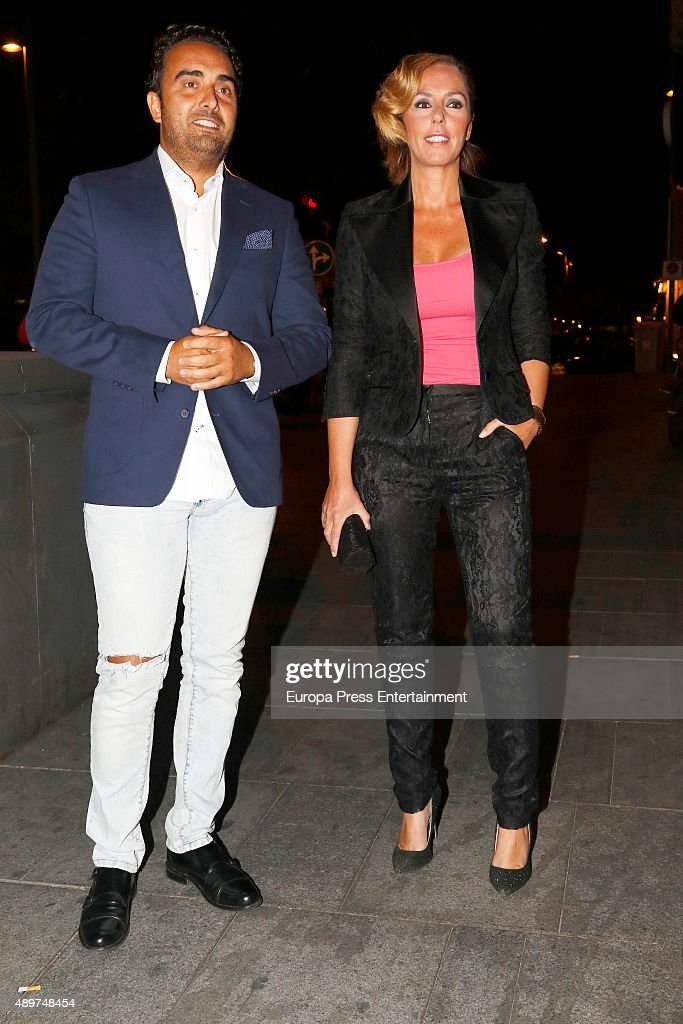 Fidel Albiac and Rocio Carrasco attend Terelu's 50th birthday party on September 23 2015 in Madrid Spain