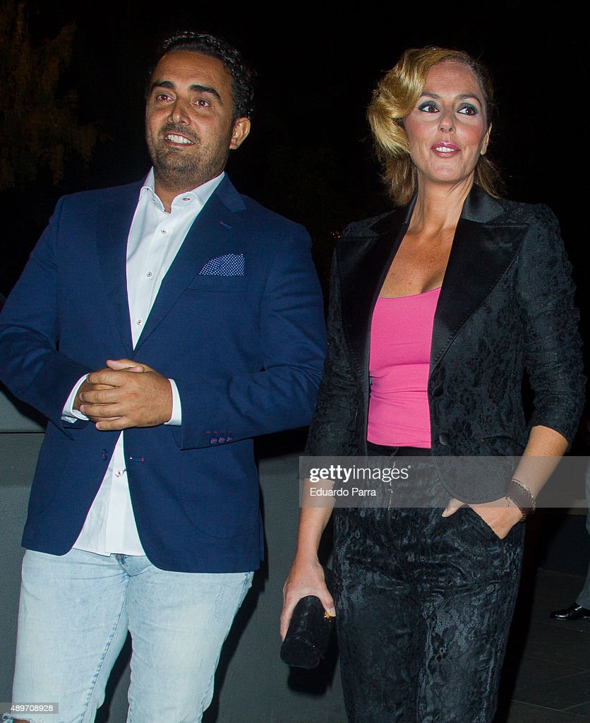 Fidel Albiac and Rocio Carrasco attend Terelu's birthday party at Le Boutique on September 23 2015 in Madrid Spain