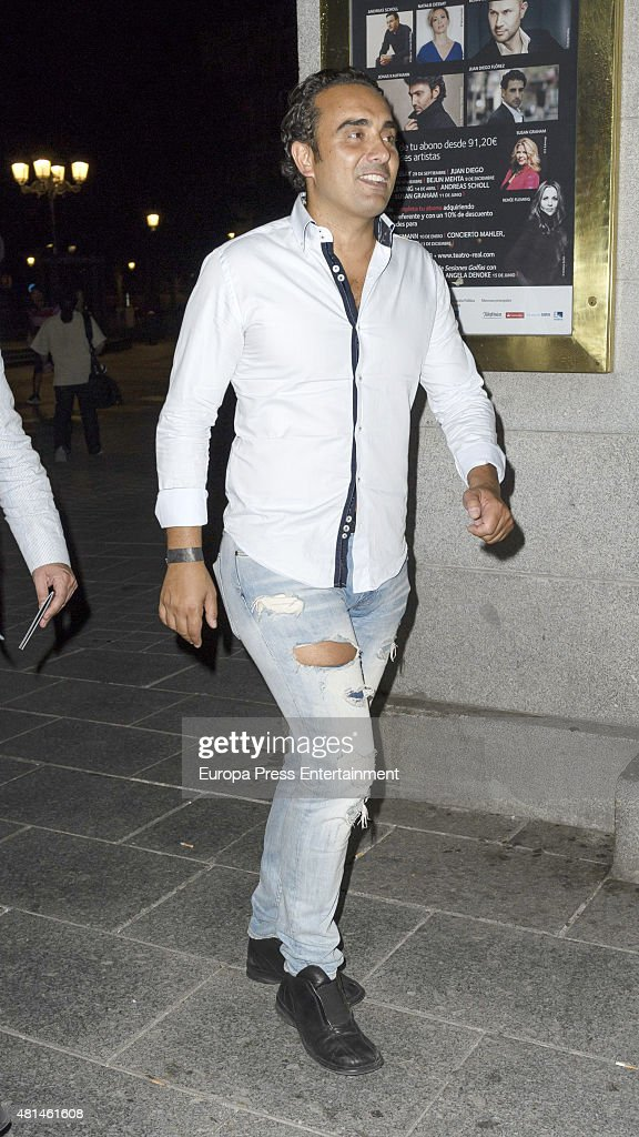 Fidel Albiac attends Elton John concert at the Royal Theater on July 20 2015 in Madrid Spain