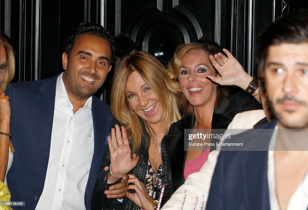 Fidel Albiac Belen Rodriguez and Rocio Carrasco attend Terelu's 50th birthday party on September 23 2015 in Madrid Spain