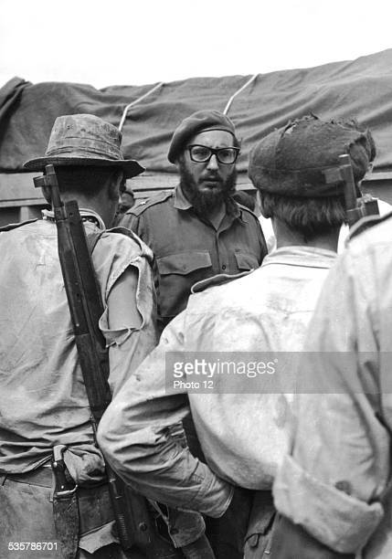 Fidel Castro after the landing at the Bay of Pigs Cuba