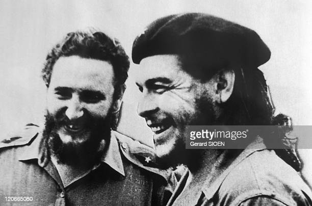 Fidel Castro and Che Guevara in Havana Cuba in 1958 Cuba Havana museum of the Revolution the photo of Fidel Castro and Che Guevara in 1958 after the...