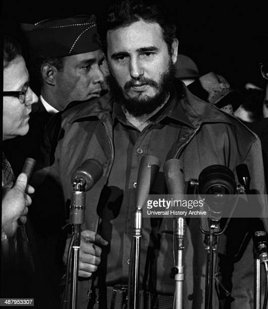 Fidel Castro arrives at the MATS Terminal Washington DC 1959 Between 15 and 26 1959 April Castro visited the US with a delegation of representatives...