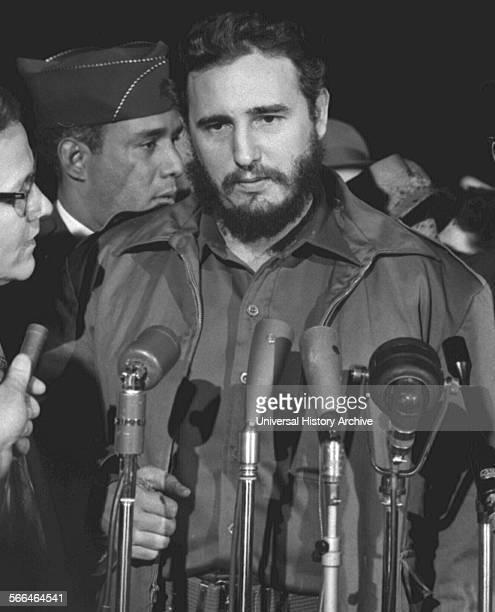 Fidel Castro of Cuba visits Washington DC 1959