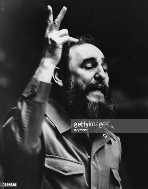Fidel Castro revolutionary leader of Cuba addressing the United Nations General Assembly 1979
