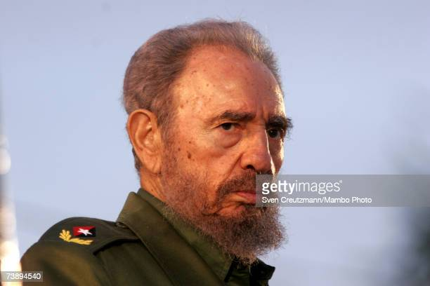Fidel Castro speaks during a political rally July 26 2006 in Holguin Cuba on the day when Cuba celebrates the anniversary of Castro's attack on the...