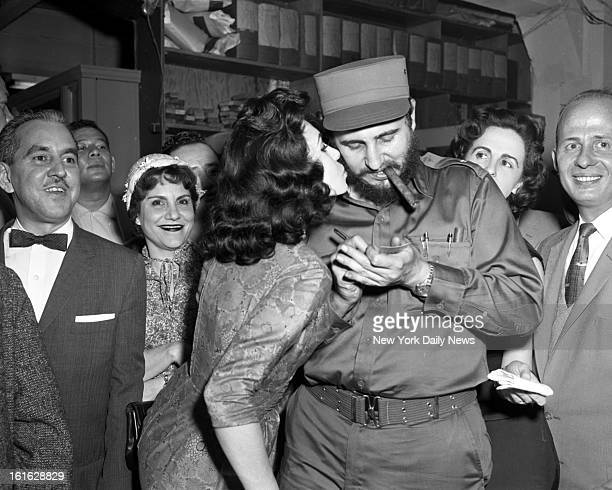 Fidel Castro visits New York hired a public relations firm ate hot dogs kissed ladies like a rock star and held babies like a politican Here Miss...