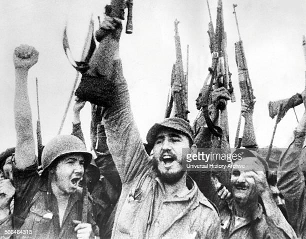 Fidel Castro with fellow revolutionary rebels in Cuba 1959