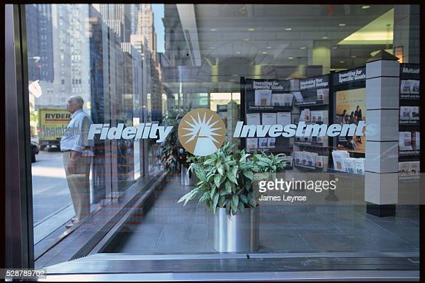 Fidelity Investments Logo on Office Window