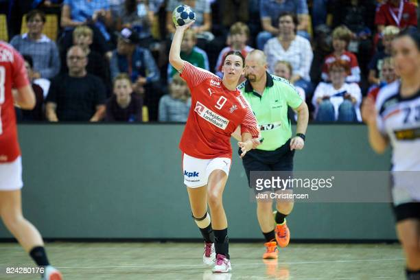 Fie Woller of Denmark in action during the international friendly match between Denmark and Germany at Ceres Arena on June 08 2017 in Arhus Denmark