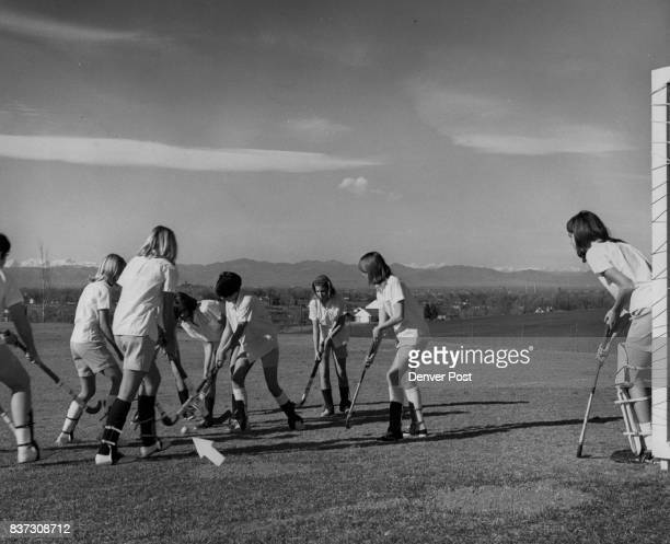 Field Hockey is Popular Activity At St Mary's Academy From left are students Linda Reznicek Mara Grannell Kathy Gardell Kathy Greco Marcie Searles...