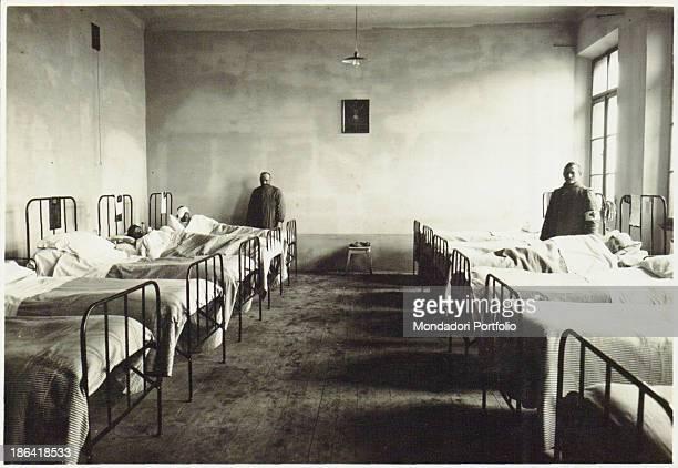 ARMY Field Hospital 037 in Cervignano A ward Cervignano del Friuli Italy 19161917 Gelatine process Rome Central Museum of the Risorgimento
