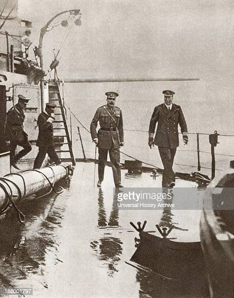 Field Marshal Horatio Herbert Kitchener 1St Earl Kitchener On The Left Seen Here With Admiral Sir Frederic Charles Dreyer On The Right On Board The...