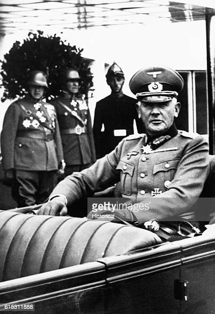 Field Marshal Werner von Blomberg the Minister of Defense during the early part of Hitler's chancellory played a key role in Hitler's grab for total...