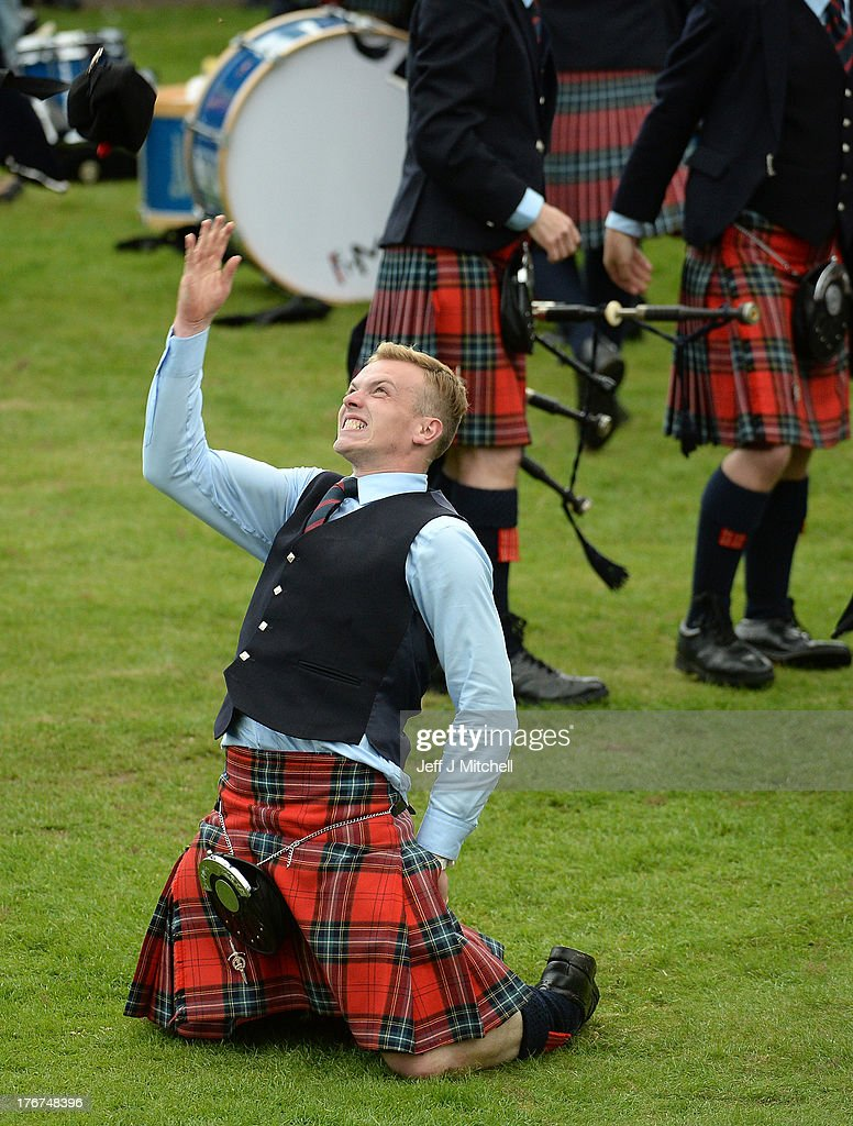 Field Marshall Montgomery celebrate winning the 2013 World Pipe Band Championships for the third year in a row at Glasgow Green on August 18, 2013 in Glasgow, Scotland. The annual World Pipe Band Championships has returned to Glasgow this weekend, with 225 pipe bands competing for the title.