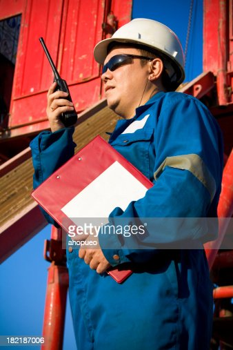 Field Service Engineer At Rig Site Stock Photo | Getty Images