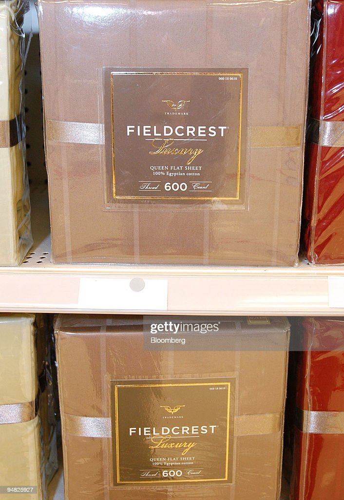 fieldcrest luxury bed sheets are on display at a target retail
