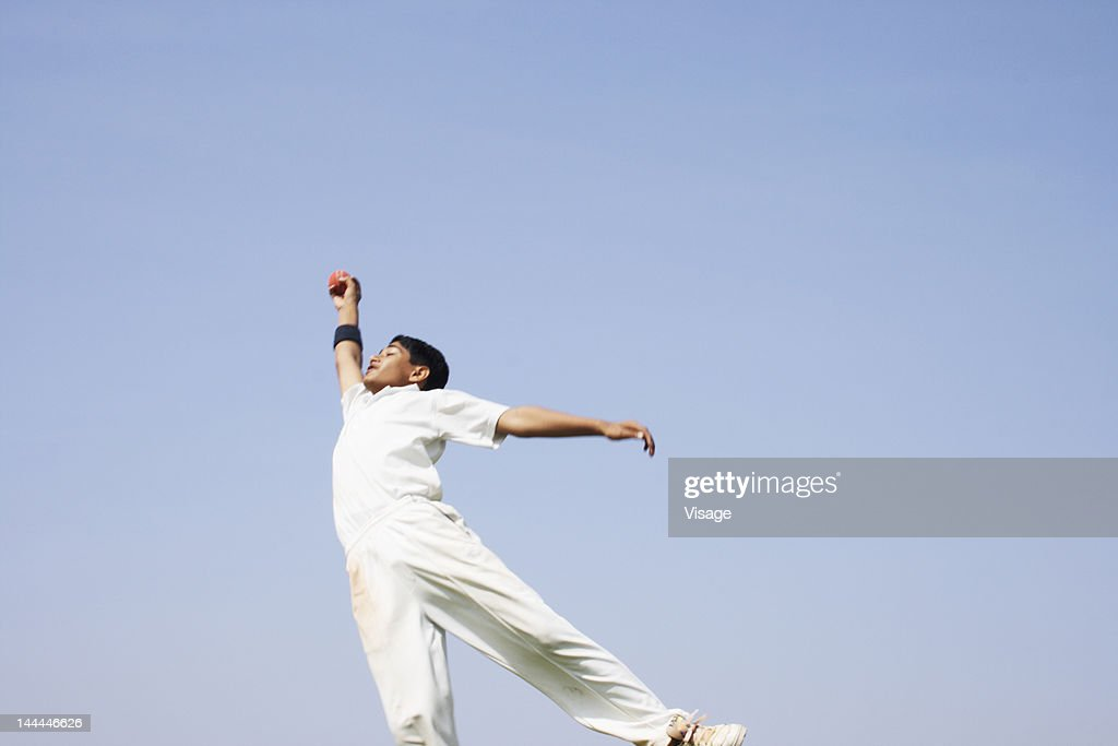 Fielder diving for a catch : Stock Photo