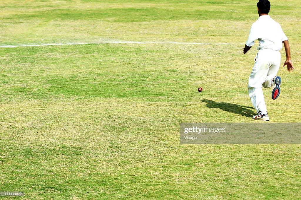 Fielder running on the field