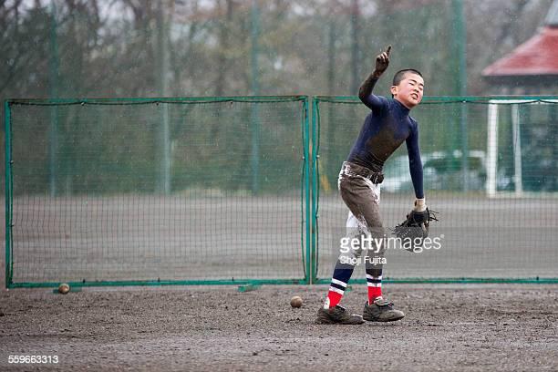 fielding practice in baseball