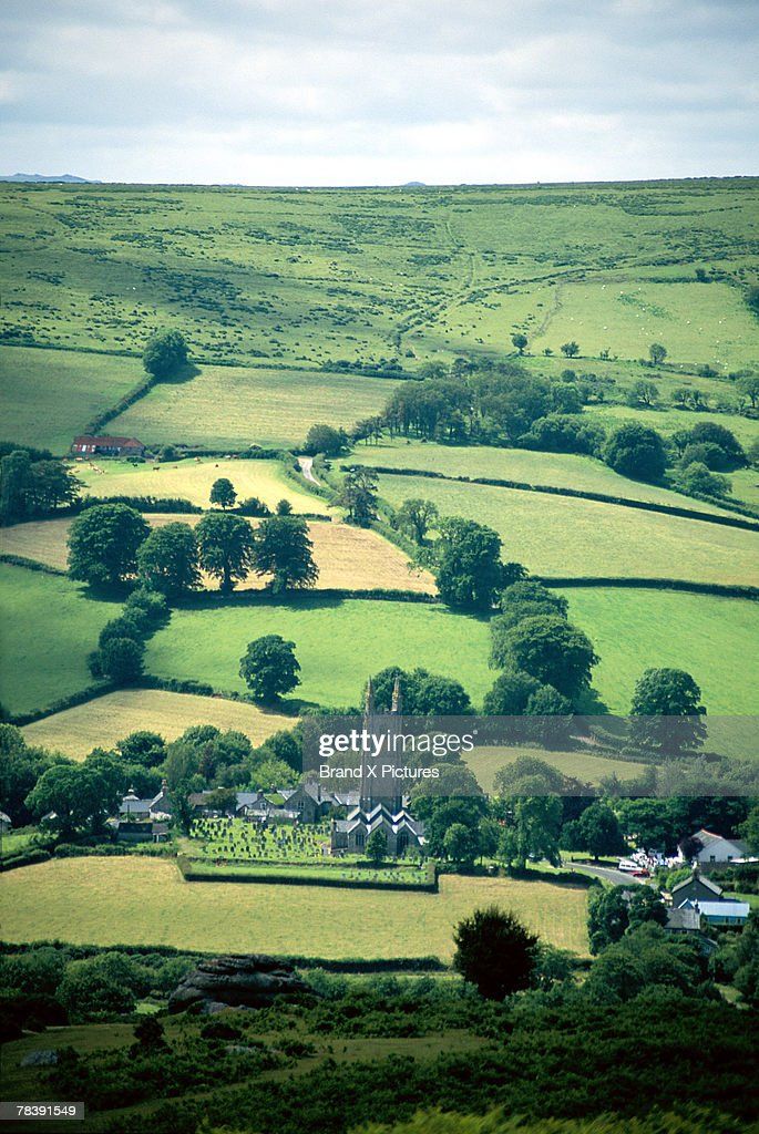 Fields of Widecombe, England : Stock Photo