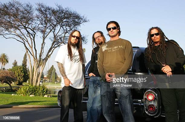 Fieldy Jonathan Davis David Silveria and James 'Munky' Shaffer of Korn