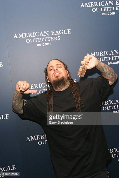 Fieldy of Korn during American Eagle Outfitters Rocks Chicago with a Back to School Tailgate Party at American Eagle Outfitters North Avenue Store in...