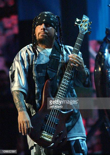 Fieldy of Korn during MTV Video Music Awards Latin America 2003 Live Telecast at Jackie Gleason Theater in Miami Beach Florida United States