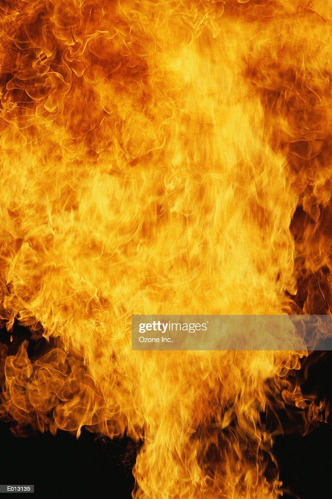 Fiery explosion : Stock Photo