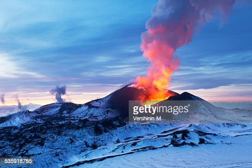 Fiery Kamchatka : Stock Photo