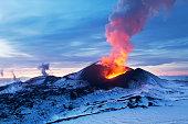 Volcanic eruption Flat Tolbachik
